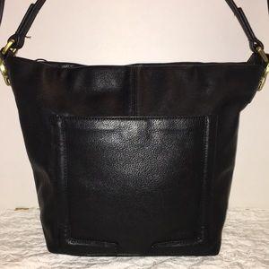 🌹NWOT LG LIZ CLAIBORNE REAL Leather Bag 2 Straps